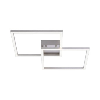 Leuchten Direkt LS-MAXI Ceiling Light LED stainless steel, 2-light sources, Remote control, Colour changer