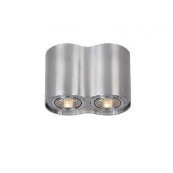 Lucide TUBE ceiling spotlight matt nickel, 2-light sources