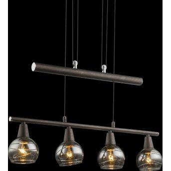 Globo ISLA Pendant Light LED bronze, 4-light sources
