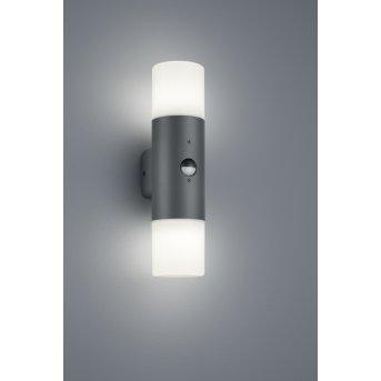 Trio HOOSIC Outdoor Wall Light anthracite, 2-light sources, Motion sensor