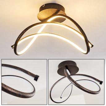 WENGI Ceiling light LED rust-coloured, 1-light source