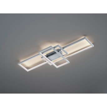 Trio THIAGO Ceiling Light LED matt nickel, 1-light source, Remote control, Colour changer