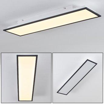 SALMI Ceiling Light LED black, white, 1-light source
