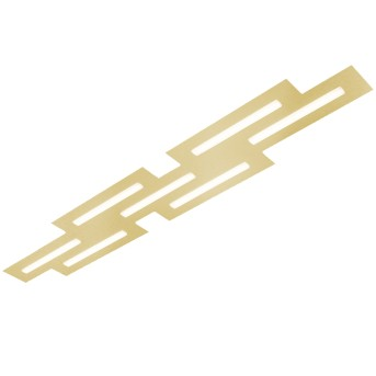 Grossmann FIS Ceiling Light LED brass, 7-light sources