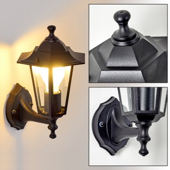 VALTIMO outdoor wall light black, 1-light source