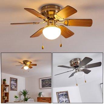 TRILLO ceiling fan matt nickel, 1-light source