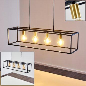 IBUSUKI Pendant Light brass, black, gold, 4-light sources