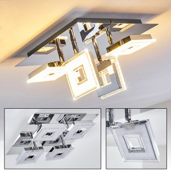 Krakau ceiling spotlight LED chrome, 4-light sources