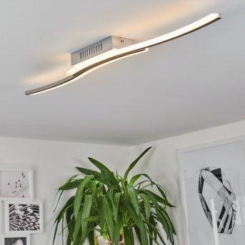 Rosselo LED ceiling light matt nickel, 1-light source