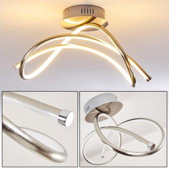 WENGI Ceiling light LED matt nickel, 1-light source