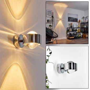 Hofstein Sapri wall light chrome, 1-light source