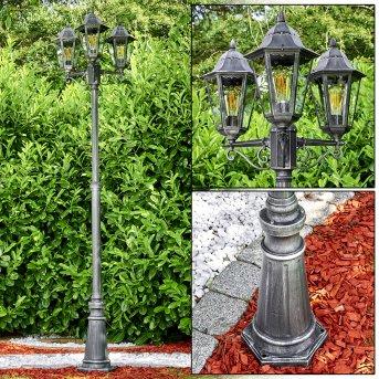 Lignac Lamp Post black, 3-light sources
