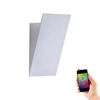Paul Neuhaus Q-WEDGE Wall Light LED aluminium, 1-light source, Remote control, Colour changer