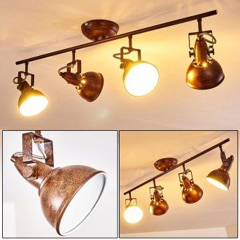 Ceiling Light Tina rust-coloured, 4-light sources