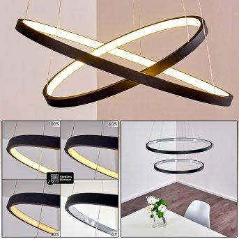 Canisteo Pendant Light LED black, 2-light sources
