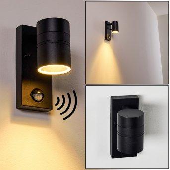 Outdoor Wall Light Froslev LED black, 1-light source, Motion sensor