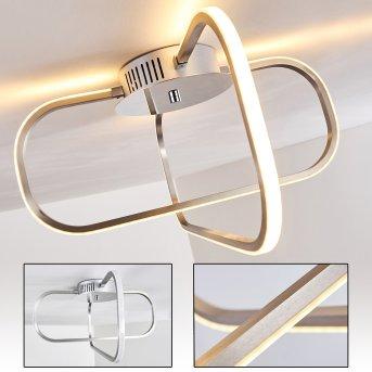 Serre LED ceiling light chrome, 1-light source