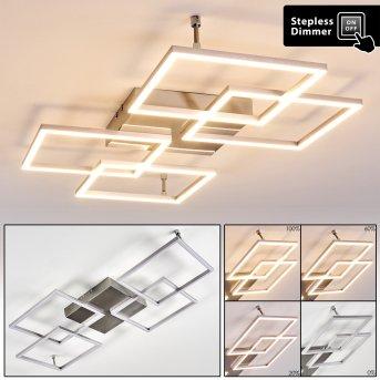 VEYRIER Ceiling light LED brushed steel, 4-light sources