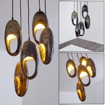 LAMINGTON Pendant Light black, silver, 5-light sources