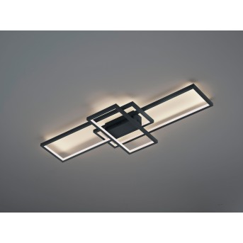 Trio THIAGO Ceiling Light LED anthracite, 1-light source, Remote control, Colour changer