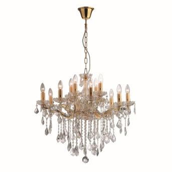 Ideal Lux FLORIAN Chandelier gold, 12-light sources