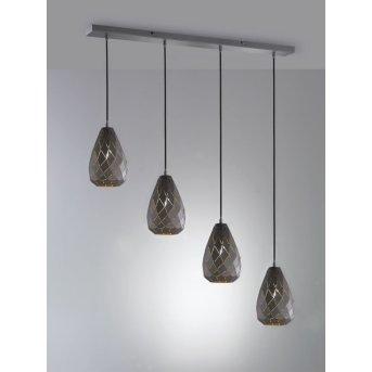 Trio ONYX Pendant Light anthracite, 4-light sources