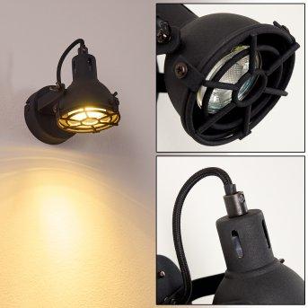 JONSERED Wall Light LED black, 1-light source