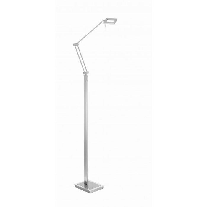 Paul Neuhaus INIGO floor lamp LED stainless steel 434 55   illumination.co.uk
