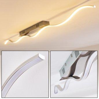 TROPEA Ceiling Light LED brushed steel, 1-light source