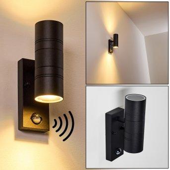 FROSLEV Outdoor Wall Light LED black, 2-light sources, Motion sensor