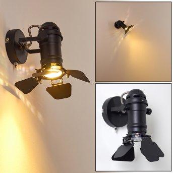 LICHINGA Wall Light black, 1-light source