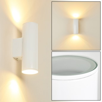 BRACHY Outdoor Wall Light LED white, 2-light sources