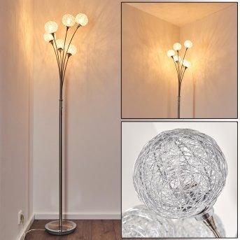 Paul Neuhaus WOMBLE floor lamp stainless steel, 6-light sources