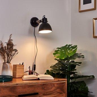TILTON Wall Light matt nickel, black, 1-light source