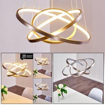 Canisteo Pendant Light LED matt nickel, 3-light sources