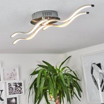 TARENT Ceiling Light LED brushed steel, 1-light source