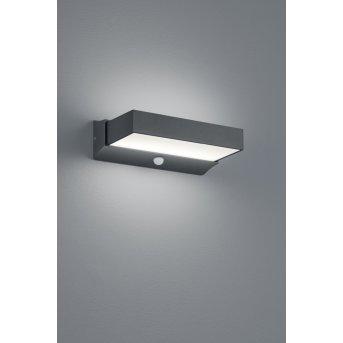Trio CUANDO Outdoor Wall Light LED anthracite, 1-light source, Motion sensor