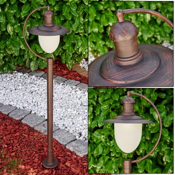 SURNU path light rust-coloured, brown, 1-light source