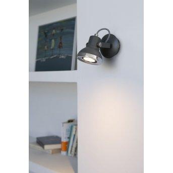 Faro Ring wall spotlight LED grey, 1-light source