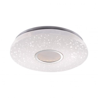 Leuchten-Direkt JONAS ceiling light LED white, brushed steel, 1-light source, Remote control