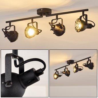 JONSERED Ceiling Light LED black, 4-light sources