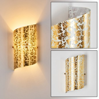 PORDENONE Wall Light gold, 1-light source