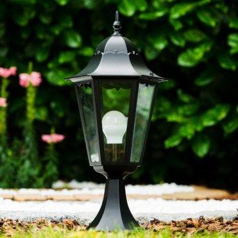 pedestal light black black, transparent, clear, 1-light source