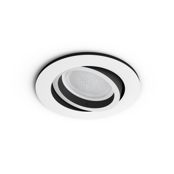Philips HUE AMBIANCE WHITE & COLOR CENTURA Recessed spotlight, extension white, 1-light source, Colour changer