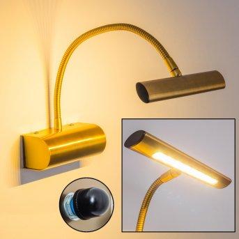 Trio Curtis wall light LED brass, antique brass, 1-light source