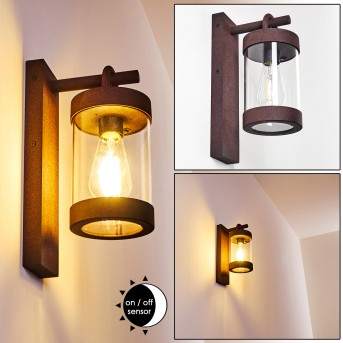 Outdoor Wall Light Fulham rust-coloured, 1-light source