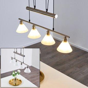Bamenda Pendant Light matt nickel, 4-light sources