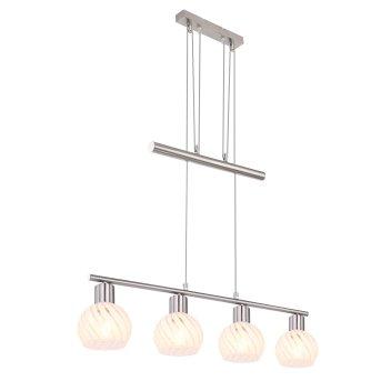 Globo WILLY Pendant Light matt nickel, 4-light sources