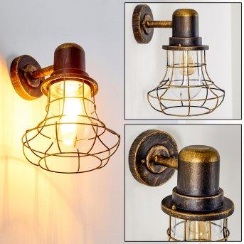 BORKAN outdoor wall light brown, gold, 1-light source