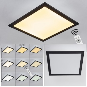 ESSAOUIRA Ceiling Light LED black, 1-light source, Remote control